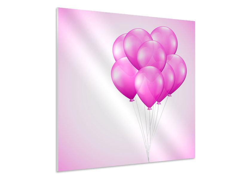 Hartschaumbild Rosarote Luftballons