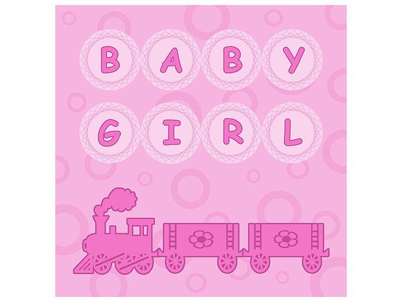 Hartschaumbild Baby-Girl