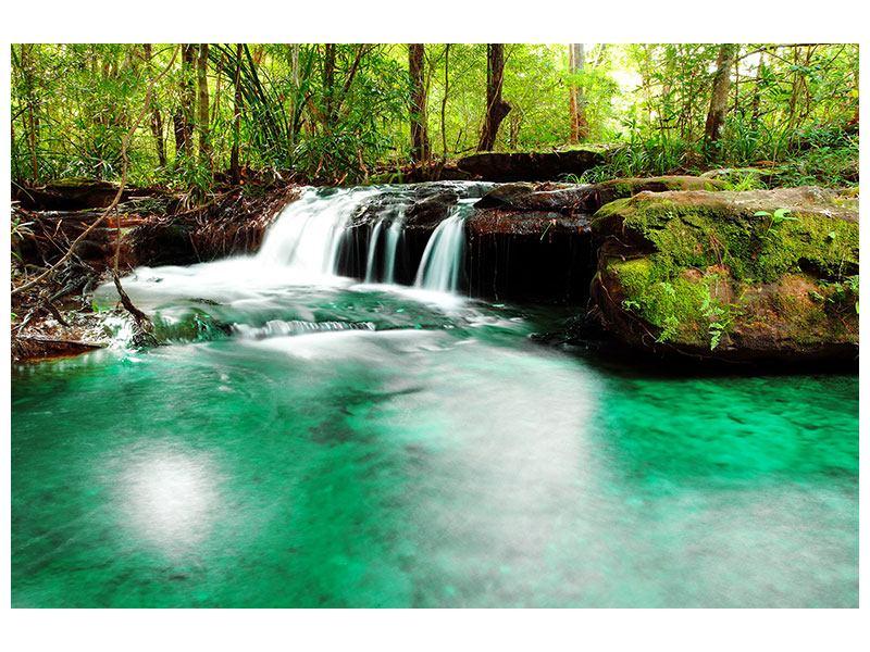 Hartschaumbild Der Fluss am Wasserfall