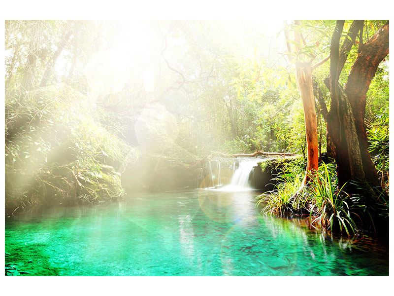 Hartschaumbild Die grüne Lagune