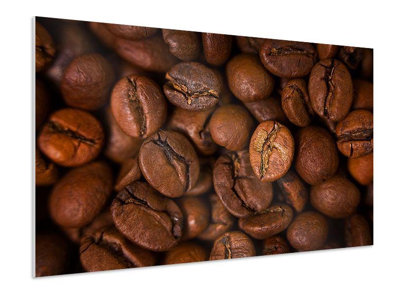 Hartschaumbild Close Up Kaffeebohnen