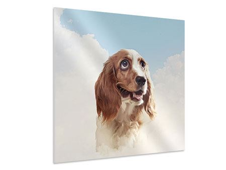 Hartschaumbild Fröhlicher Hund