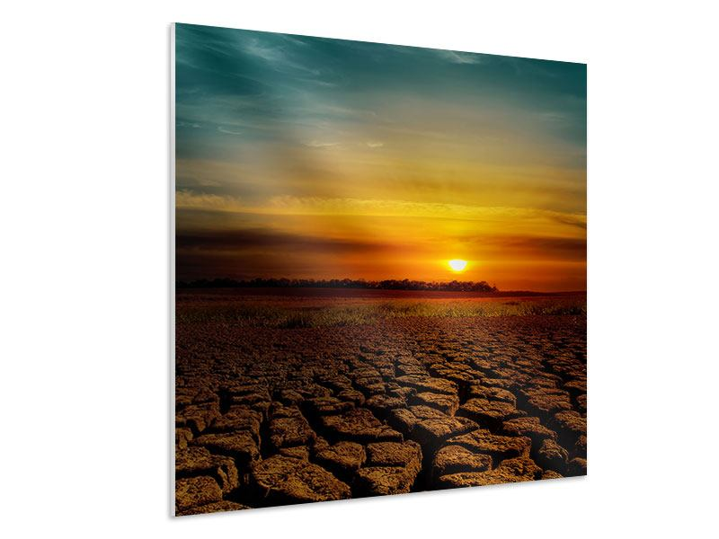Hartschaumbild Afrikas Dürre