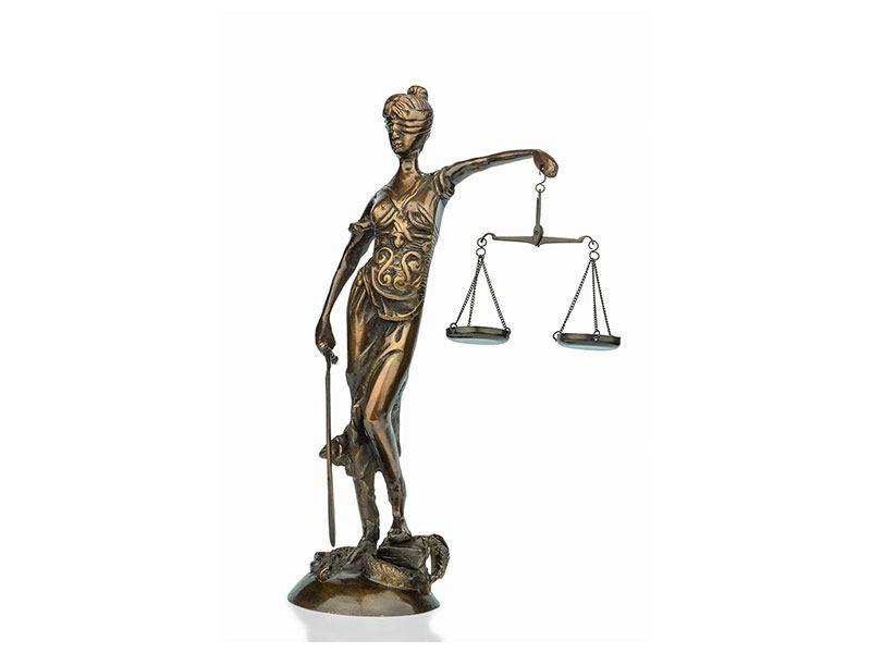Hartschaumbild Justitia