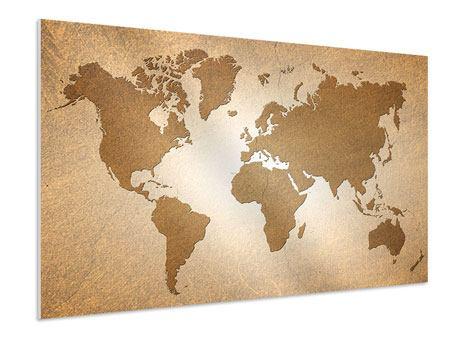 Hartschaumbild Karte der Welt in Vintage