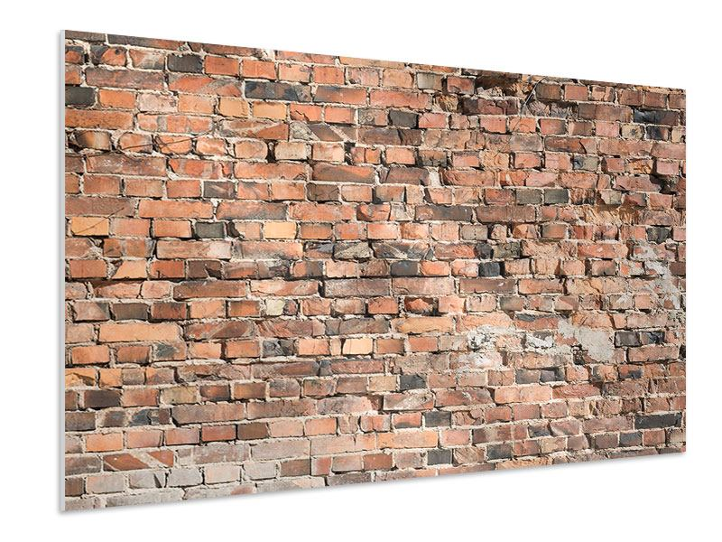 Hartschaumbild Alte Backsteinmauer