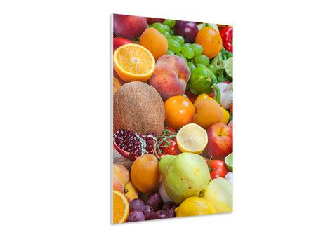 Hartschaumbild Frische Früchte