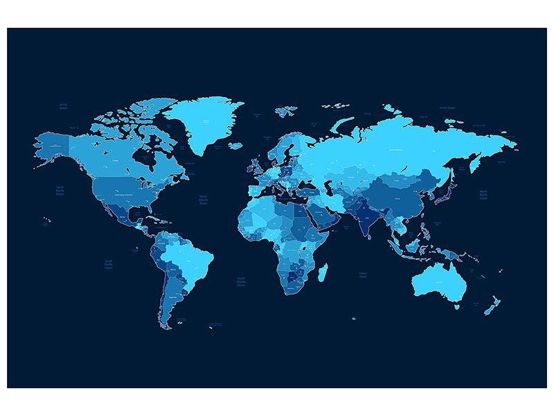 Hartschaumbild Weltkarte
