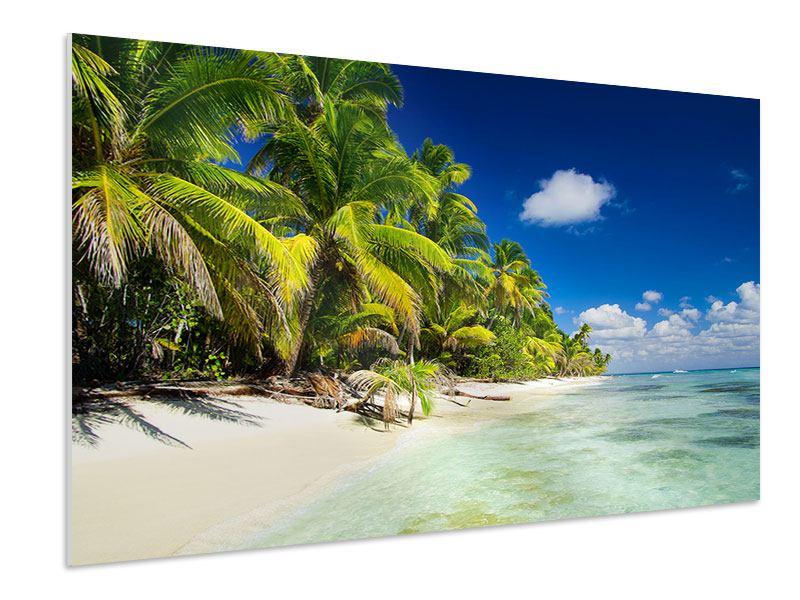 Hartschaumbild Die einsame Insel