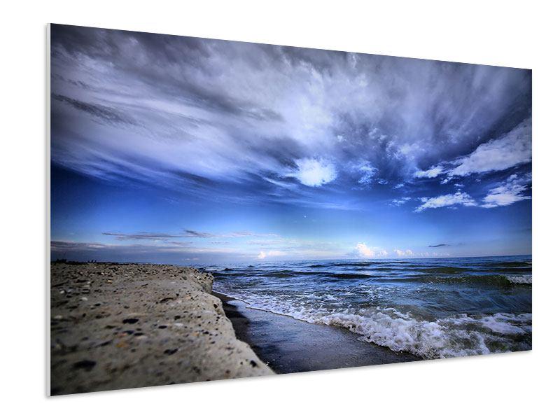 Hartschaumbild Strandwellen