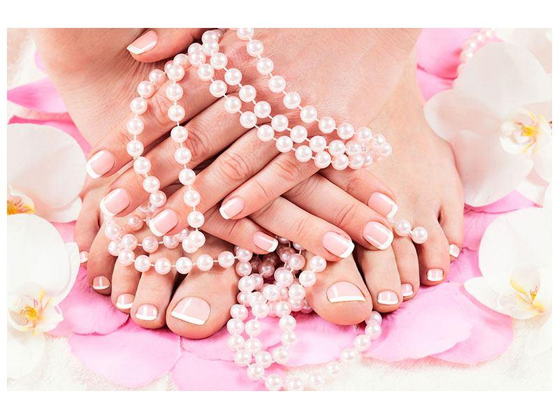 Hartschaumbild Hände und Füsse