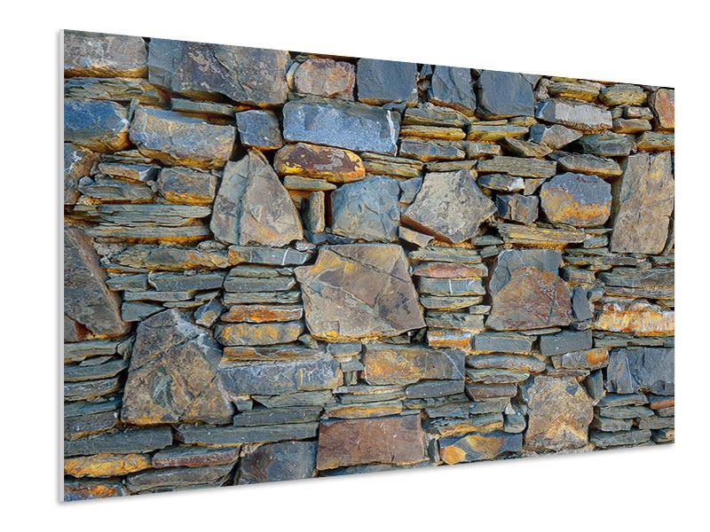 Hartschaumbild Natürliche Steinmauer