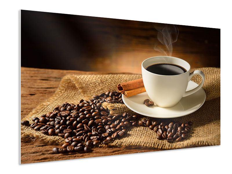 Hartschaumbild Kaffeepause