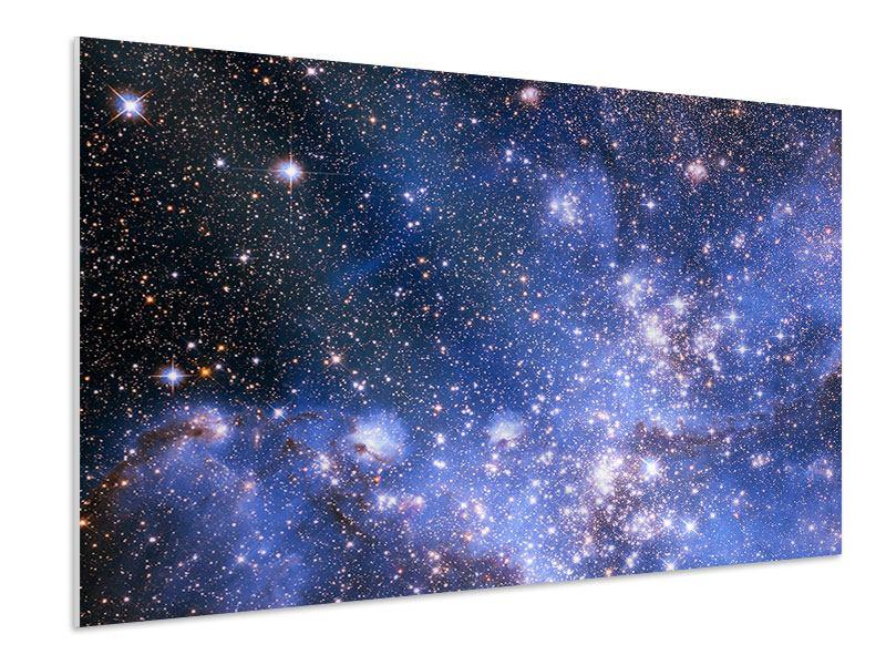 Hartschaumbild Sternenhimmel