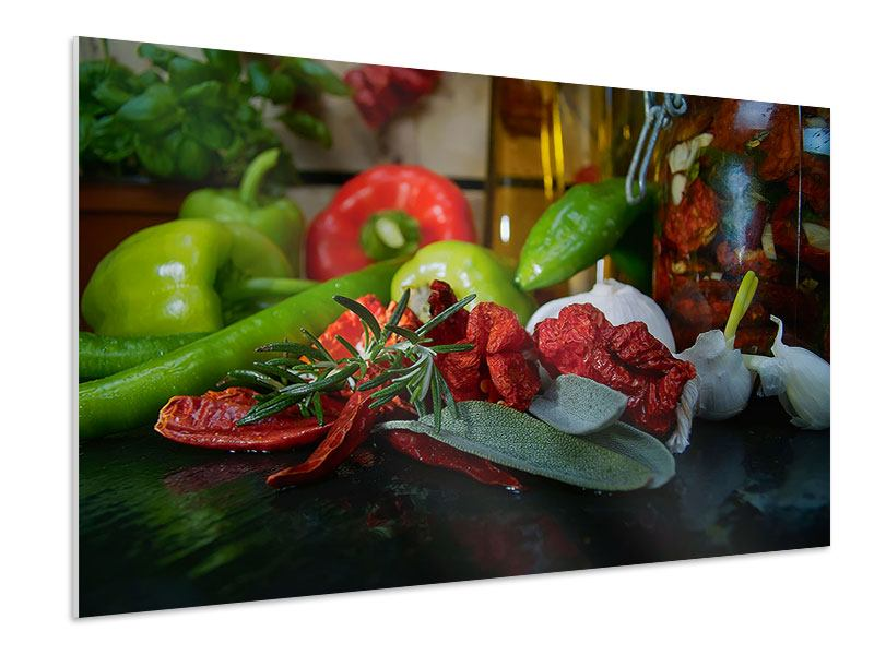 Hartschaumbild Mediterranes Gemüse