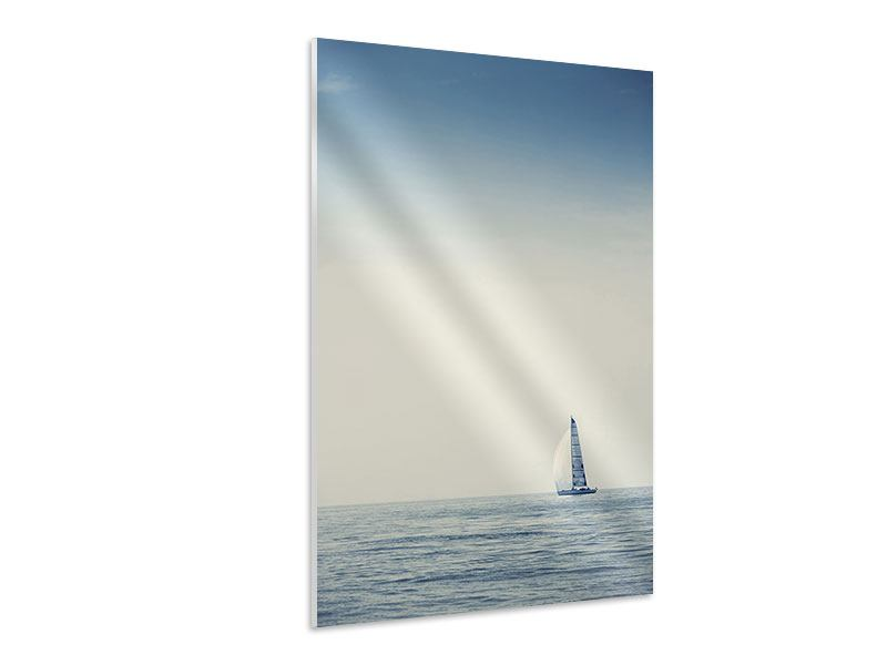 Hartschaumbild Segelboot