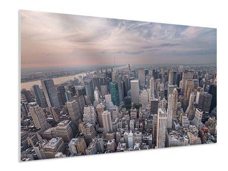 Hartschaumbild Skyline Blick über Manhattan