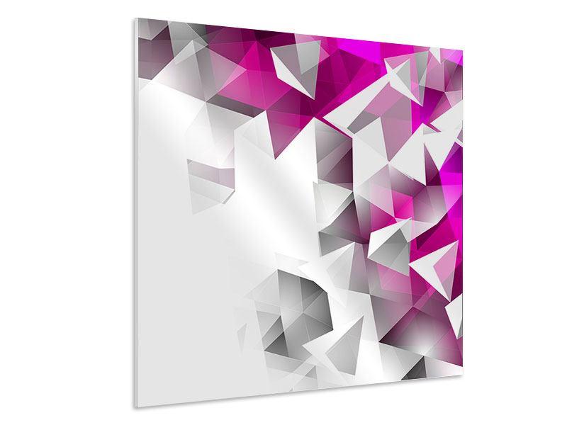 Hartschaumbild 3D-Kristalle Pink