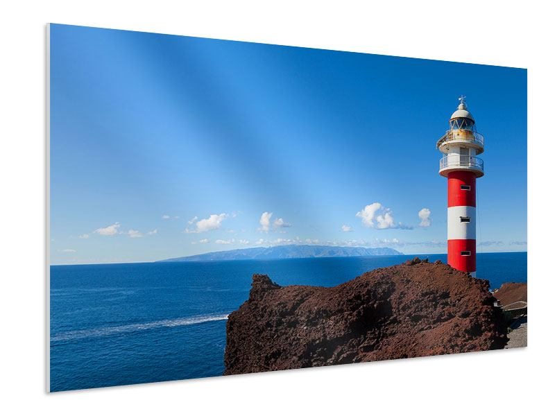 Hartschaumbild Leuchtturm in Punta Teno