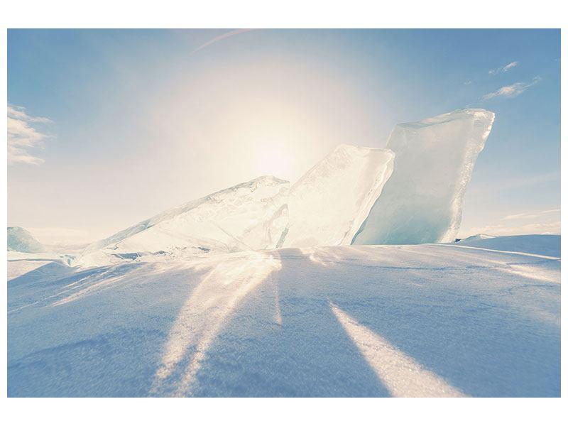 Hartschaumbild Eislandschaft
