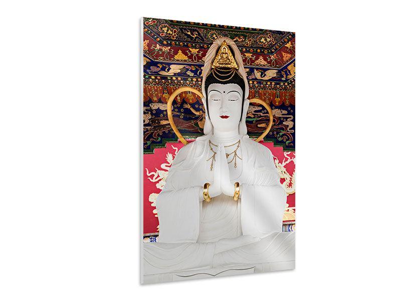 Hartschaumbild Meditierende Buddha-Statur