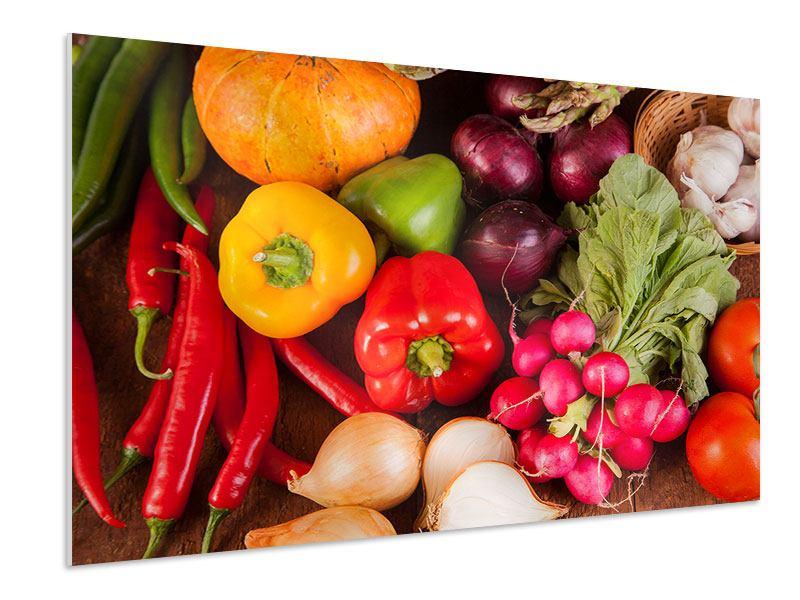 Hartschaumbild Gemüsefrische