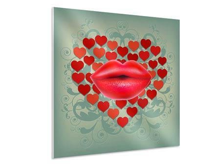 Hartschaumbild Rote Lippen soll man küssen