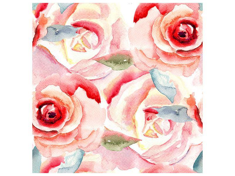 Hartschaumbild Rosengemälde