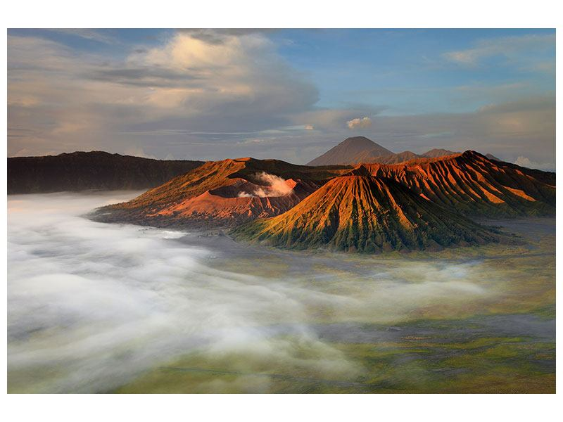 Hartschaumbild Der Bromo Vulkan