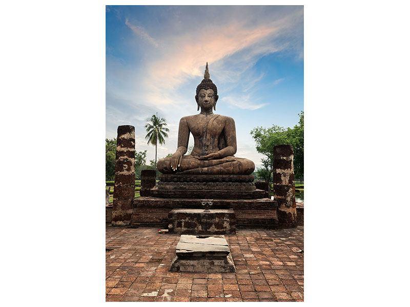 Hartschaumbild Buddha Statue