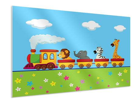 Hartschaumbild Tierische Eisenbahn