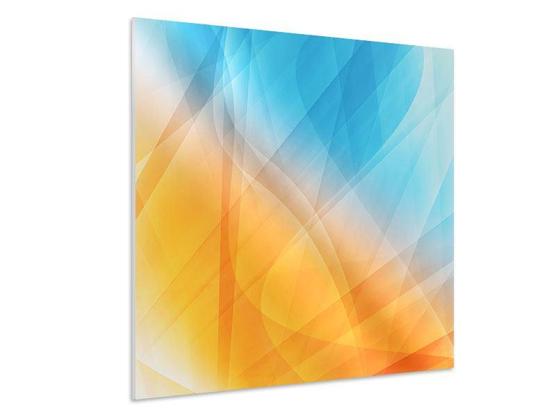 Hartschaumbild Abstrakte Fliessende Farben