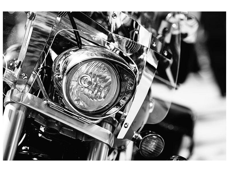 Hartschaumbild Motorrad Close Up