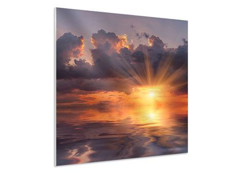 Hartschaumbild Packender Sonnenuntergang