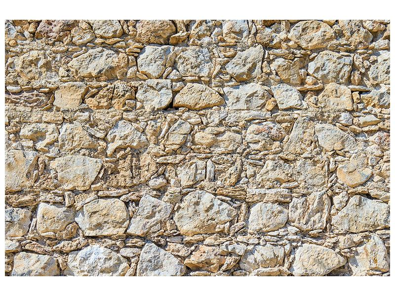 Hartschaumbild Sandsteinmauer