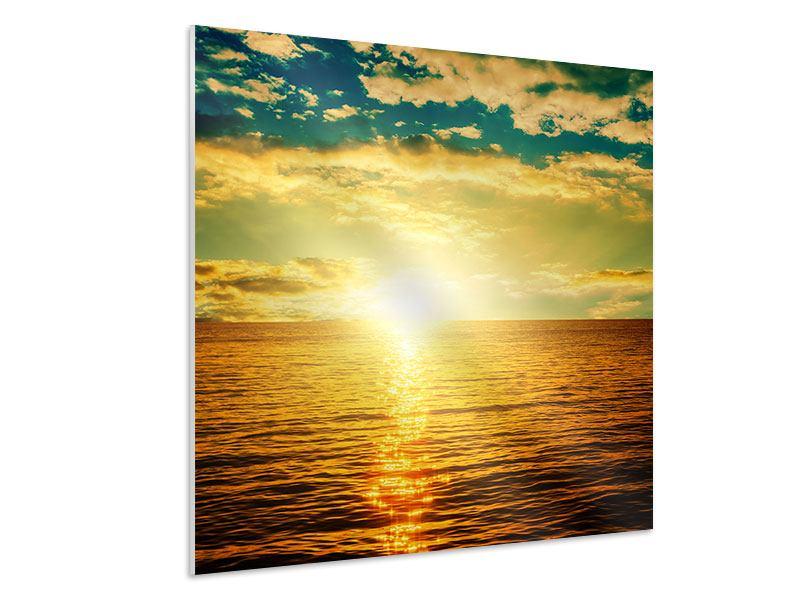 Hartschaumbild Sonnenuntergang am Meereshorizont