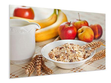 Hartschaumbild Frühstück