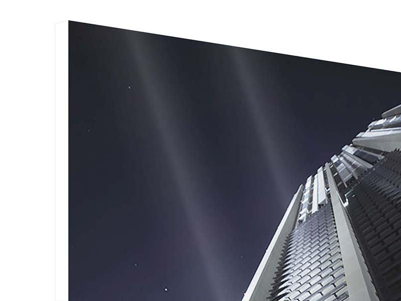 Hartschaumbild Wolkenkratzer in Dubai