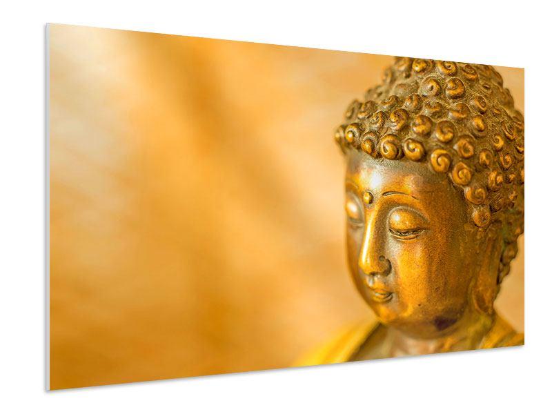 Hartschaumbild Buddha Kopf