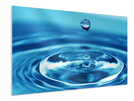 Hartschaumbild Der Wassertropfen