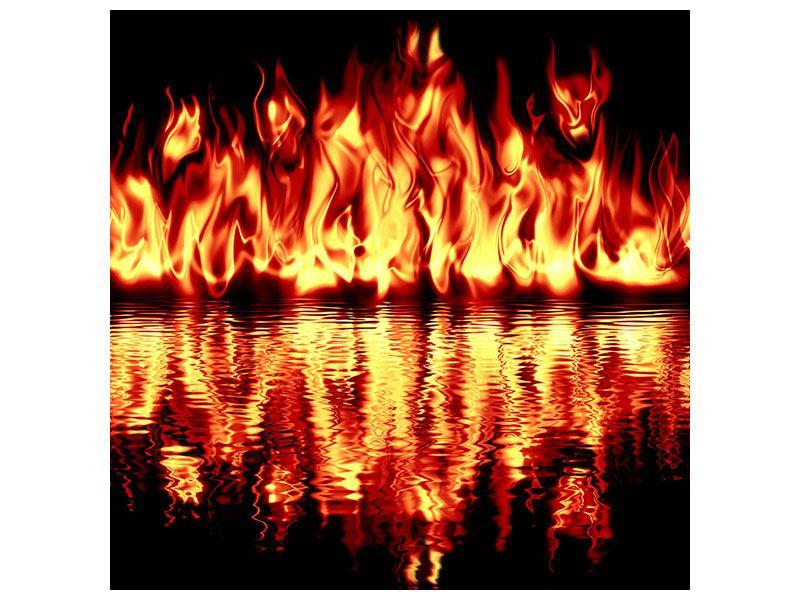 Hartschaumbild Feuerwasser