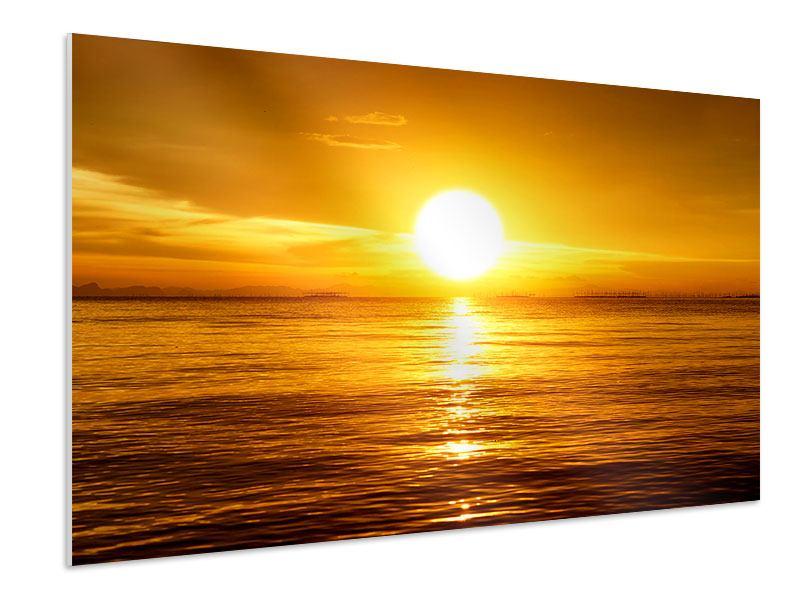 Hartschaumbild Traumhafter Sonnenuntergang