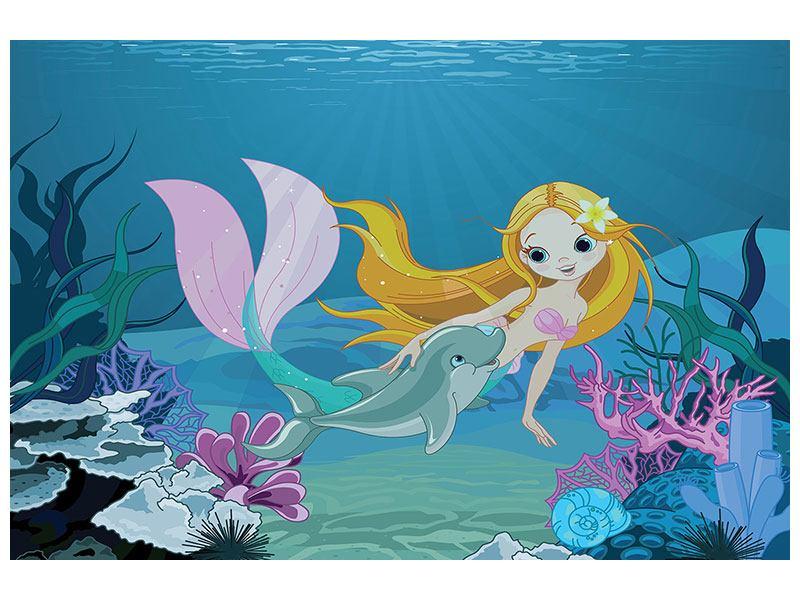 Hartschaumbild Die Meerjungfrau