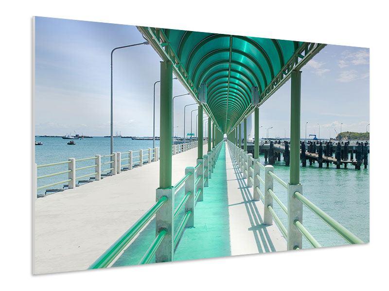 Hartschaumbild Die Brücke am Meer