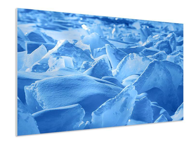 Hartschaumbild Eis des Baikalsees