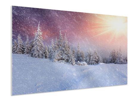Hartschaumbild Mystischer Schneesturm