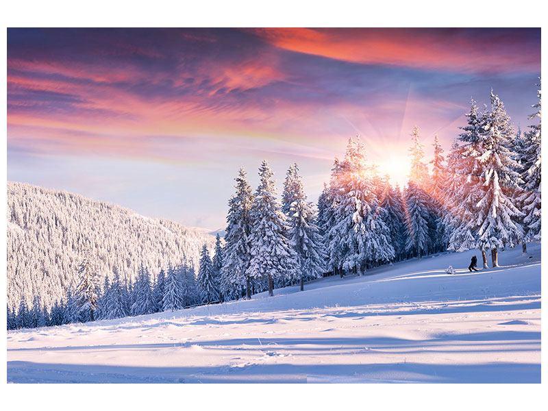 Hartschaumbild Winterlandschaft