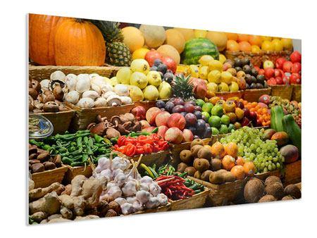 Hartschaumbild Obstmarkt