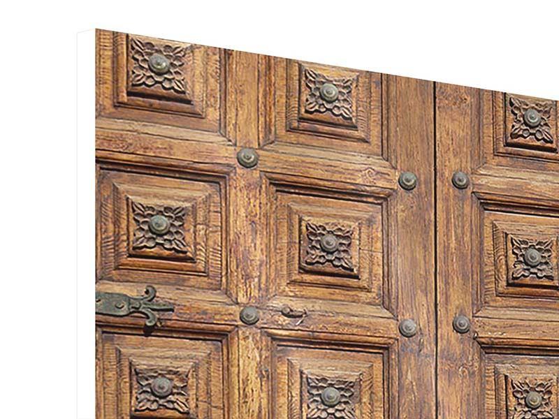 Hartschaumbild Antike Holztür