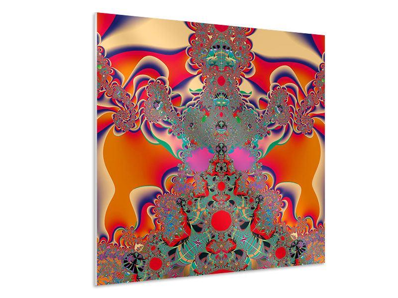 Hartschaumbild Psychedelische Kunst